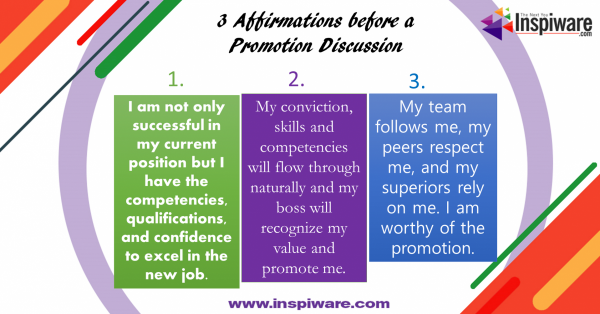 Affirmations before a job promotion discussion