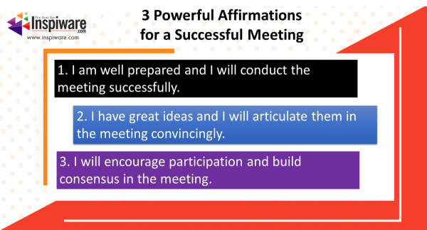Affirmations for conducting a successful meeting