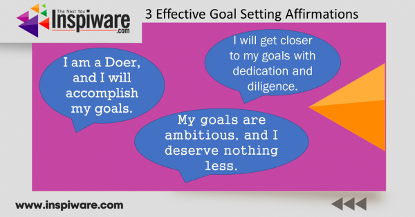 Effective Goal setting affirmations