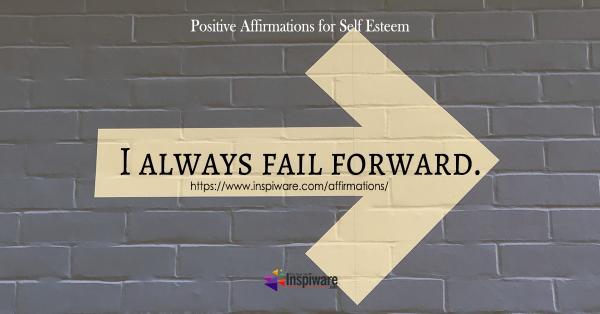 I always fail forward