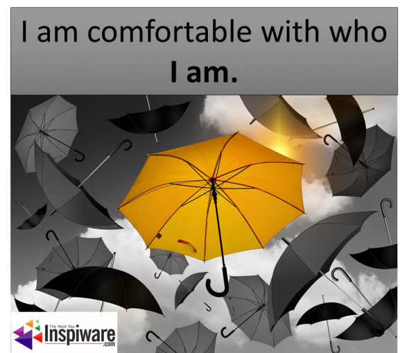 I am comfortable with who I am