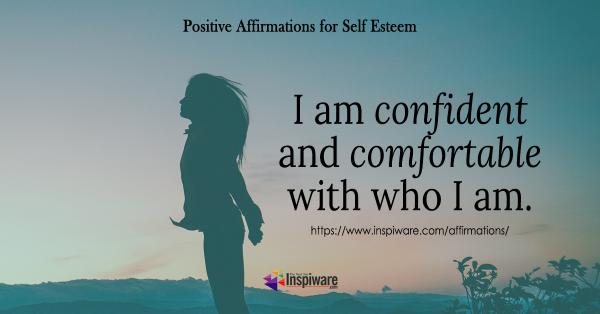 I am confident and comfortable with who I am