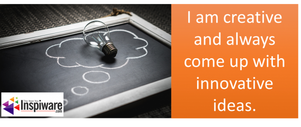 Affirmations for Kids: I am creative and always come up with innovative ideas