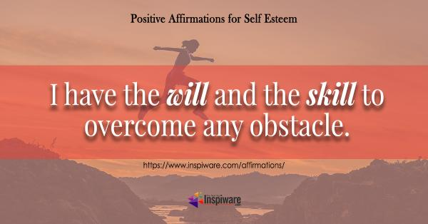 I have the will and the skill to overcome any obstacle