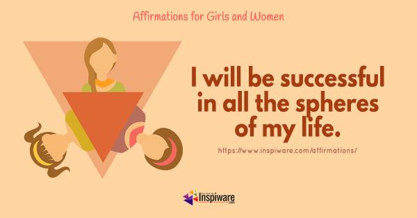 I will be successful in all the spheres of my life