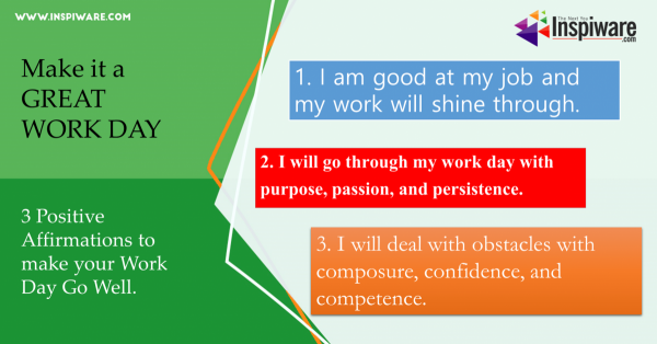 Positive Affirmations for making workday better