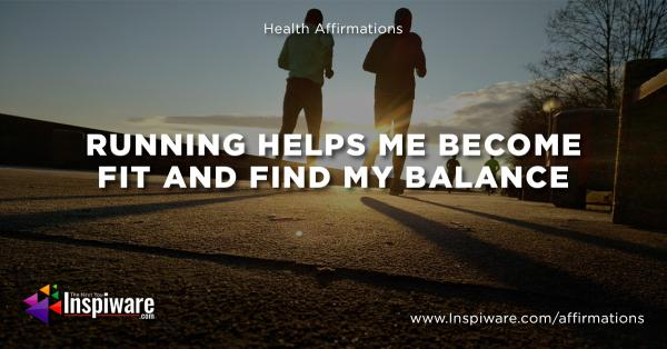 Runnings help me become fit and find my balance